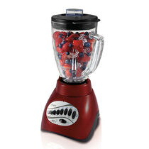 Oster®Precise Blend™ 300 Plus Blender with Food Processor Attachment - Red