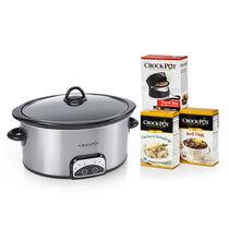 Crock-Pot® 4-Quart Stainless Steel Slow Cooker Starter Kit