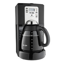 Mr. Coffee® Performance Brew 12-Cup Programmable Coffee Maker Black/Brushed Chrome