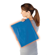 Sunbeam® Moist / Dry Heat Heating Pad with LED controller, King Size, Newport Blue