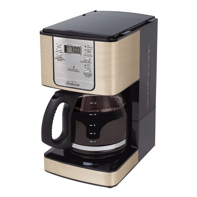 Sunbeam Coffee Maker Red : Sunbeam 12-Cup Programmable Coffeemaker, Champagne Shimmer BVSBJWX27CS-033 Sunbeam Canada