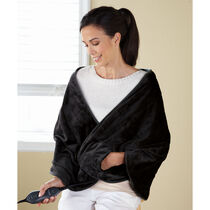 Sunbeam® Royalmink™ Chill-Away™ Heated Wrap, Black