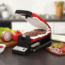 Oster® 7-Minute Grill with DuraCeramic Coating, Red/White