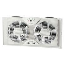 Holmes®  Electronically Reversible Twin Window Fan