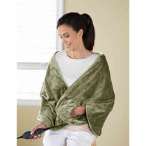 Sunbeam® Royalmink™ Chill-Away™ Heated Wrap, Sage
