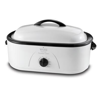 Rival® 18-Quart Roaster Oven, White, RO180