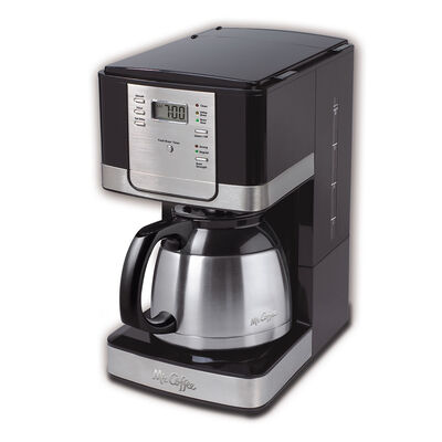 Mr. Coffee Advanced Brew 8-Cup Programmable Coffee Maker with Thermal Carafe Black/Chrome, JWTX95