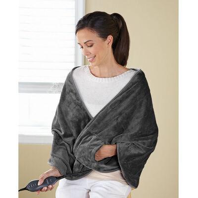Sunbeam® Royalmink™ Chill-Away™ Heated Wrap, Slate