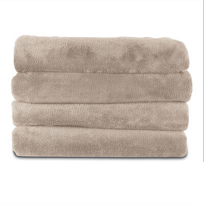 Sunbeam® Microplush Heated Throw, Sand