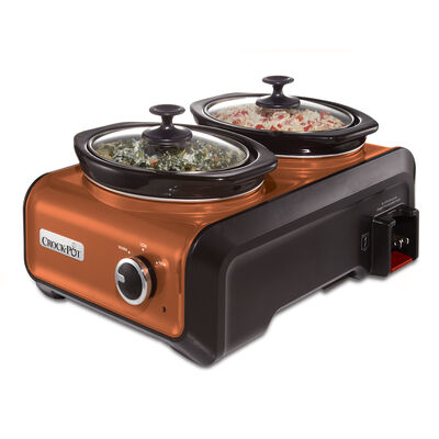 Crock-Pot® Hook Up® Connectable Entertaining System, Two 1-Quart, Metallic Copper