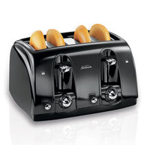 Sunbeam® 4-Slice Extra-Wide Slot Toaster, Black