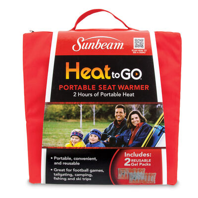 Sunbeam® Heat-to-Go Portable Seat Warmer, Red