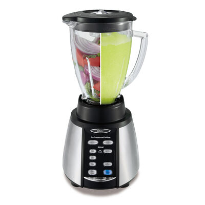 Oster® Reverse Crush™ 300 Blender with Reversing Blade Technology - Brushed Nickel - Glass Jar