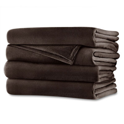 Sunbeam® Full Royalmink™ Heated Blanket, Chocolate