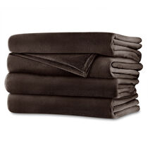 Sunbeam® Queen Royalmink™ Heated Blanket, Chocolate
