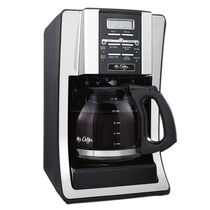 Mr. Coffee® Advanced Brew 12-Cup Programmable Coffee Maker, Black/Chrome Accents