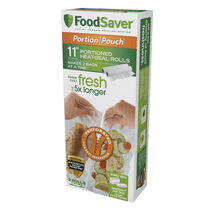 "FoodSaver® 11"" x 16' Portion Pouch Vacuum-Seal Roll, 2 Pack"