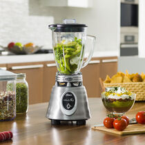 Oster® Heritage Blend™ 1000 Whirlwind™ Blender - Brushed Stainless - Glass Jar