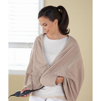 Sunbeam® Chill-Away™ Personal Heated Wrap, Sand