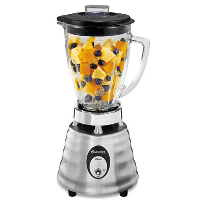 Oster® Heritage Blend™ 400 Blender - Polished Die Cast - Glass Jar