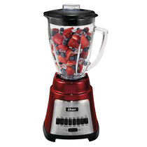 Oster® Exact Blend™ 300 Blender - Metallic Red - Glass Jar