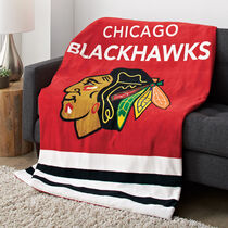 Sunbeam® NHL® Microplush Heated Throw, Chicago Black Hawks®