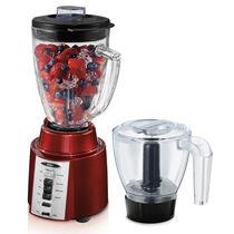 Oster® Rapid Blend™ 300 Blender PLUS Food Chopper - Metallic Red - Glass Jar