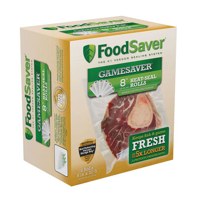 "FoodSaver® GameSaver®  8"" x 20' Long Rolls, 6 Pack"