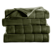 Sunbeam® Full Quilted Fleece Heated Blanket, Ivy