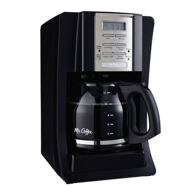Mr. Coffee® Advanced Brew 12-Cup Programmable Coffee Maker Black/Chrome, BVMC-SJX23-RB