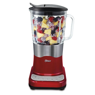 Oster® Liquefy Blend™ 200 Blender - Metallic Red - Glass Jar