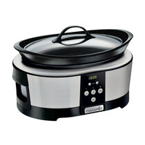 Crock-Pot 5.7L Digital Countdown Slow Cooker, Stainless Steel