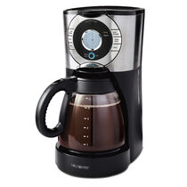 BVMC-EJX Series 12-Cup Programmable Coffeemaker, Stainless Steel/Black Base