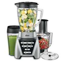 NEW Oster Pro™  1200 Plus Smoothie Cup & Food Processor Attachment Brushed Nickel