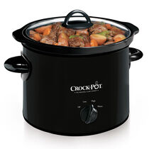 Crock-Pot® 3-Quart Manual Slow Cooker, Black