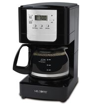 Mr. Coffee® Advanced Brew 5-Cup Programmable Coffee Maker Black/Chrome