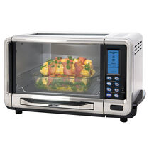 Oster® Glass View Top Digital 6-Slice Convection Countertop Oven, Stainless Steel