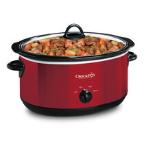 Crock-Pot® 6-Quart Manual Slow Cooker with Travel Strap, Red