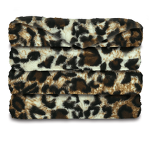 Sunbeam® Oversized Faux Fur Heated Throw, Cheetah