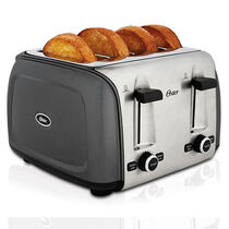Oster® Designed to Shine™ 4-Slice Toaster, Charcoal