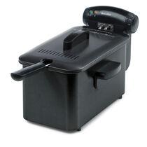 Stainless Steel 3L Oil, 1Kg Food Deep Fat Fryer, Black