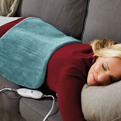 Sunbeam® XpressHeat™ XL Hourglass-Shaped Heating Pad, Jade