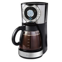 BVMC-EJX Series 12-Cup Programmable Coffeemaker, Stainless Steel/Stainless Steel Base