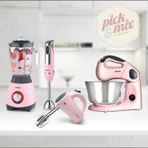 Pick & Mix Collection, Strawberry Cream - Hand Mixer, Hand Blender, Jug Blender & Food Mixer