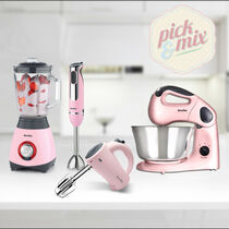 Pick & Mix Collection, Strawberry Cream - Hand Mixer, Hand Blender, Jug Blender & Food Mixer