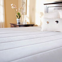 Sunbeam® Quilted Polyester Heated Mattress Pad, Twin