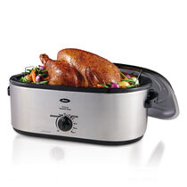 Oster® 20-Quart Roaster Oven with Defrost and Self-Basting Lid, Stainless Steel Finish, CKSTRS20-SBDW
