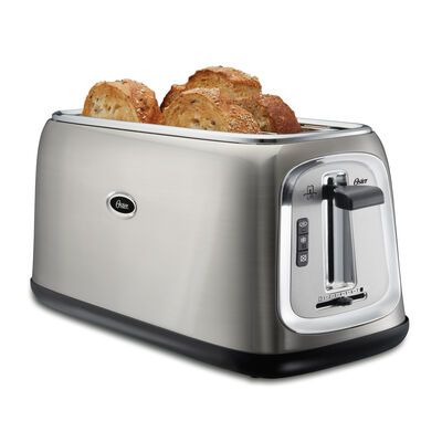 Oster 174 4 Slice Long Slot Toaster Stainless Steel On Oster Com