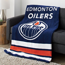 Sunbeam® NHL® Microplush Heated Throw, Edmonton Oilers®