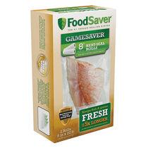 """FoodSaver® GameSaver®  8"""" x 20' Long Heat-Seal Rolls, 2 Pack"""